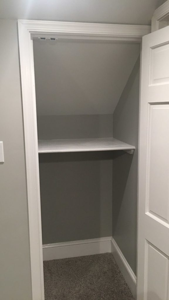 After linen closet was built.