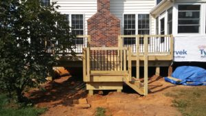 Pressure Treated Deck with Wrought Iron Railings 2